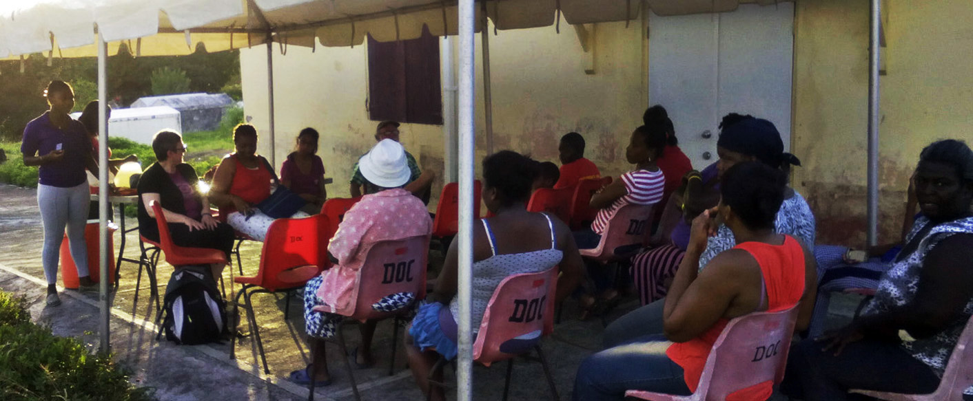 A community meeting to discuss the project.